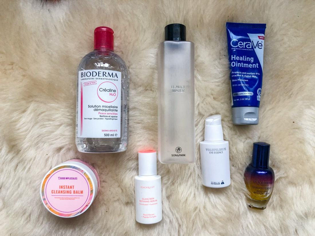 Hydrating evening skincare routine