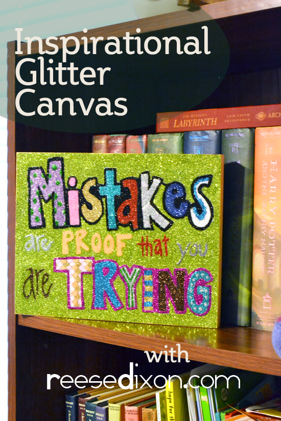 Inspirational Glitter Canvas