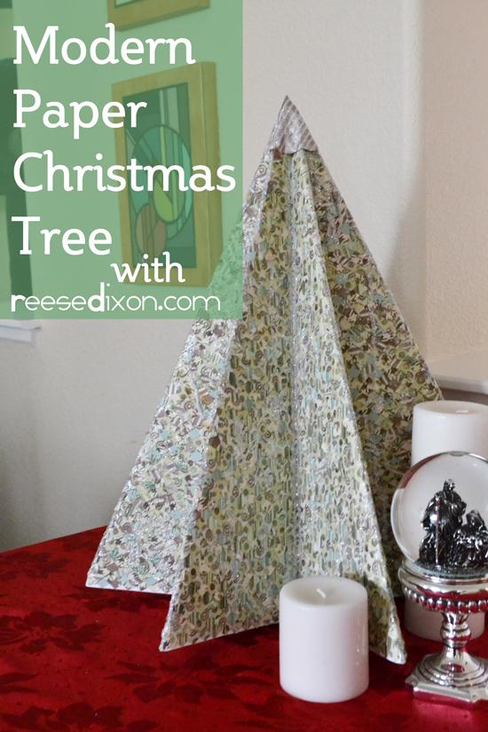 Modern Paper Christmas Tree