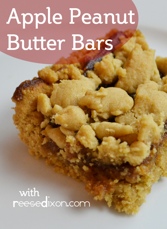 Apple Peanut Butter Bars - Reese Dixon