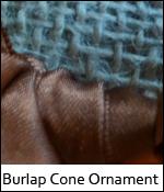 Burlap Cone Ornament