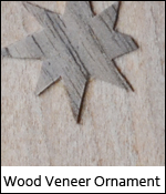 Wood Veneer Ornament