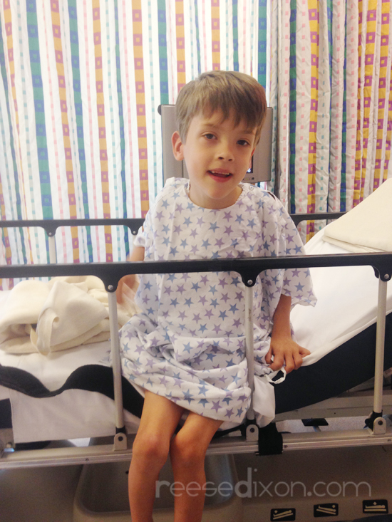 Kid in Hospital Bed