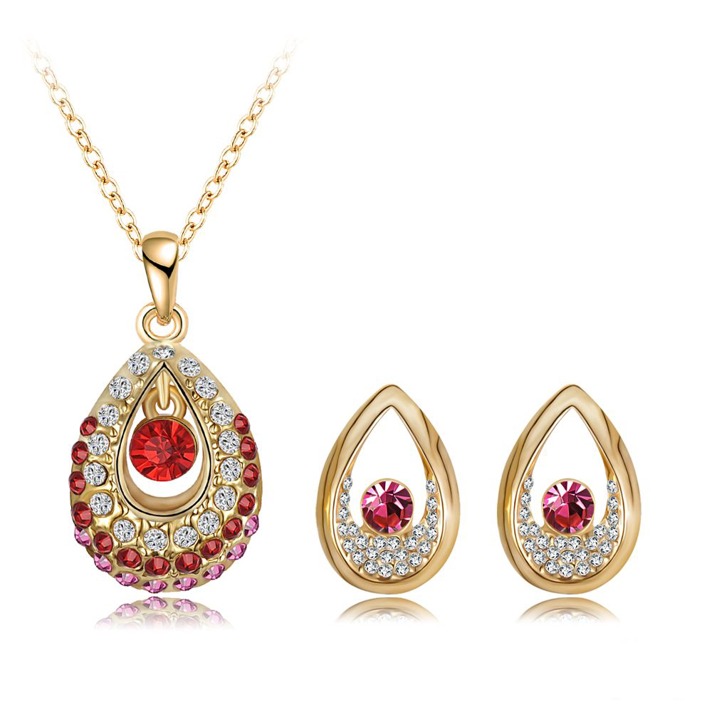 2014 New Arrival Women Jewelry Set 18K Gold Plate With