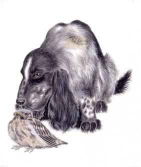 "L.Tungal ""Koer tunneb koera"" illustratsioon"