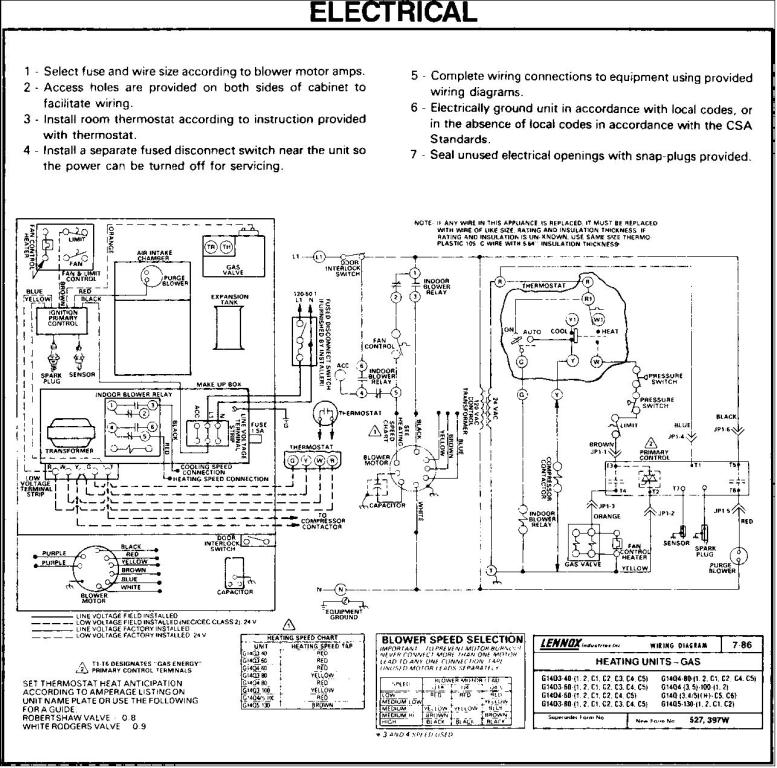 lennox wiring diagram thermostat hornet anatomy gsr-14q