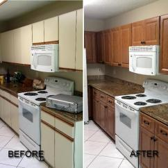 Kitchen Cabinet Refacing Cost Table Island Before And After Pictures Of Call