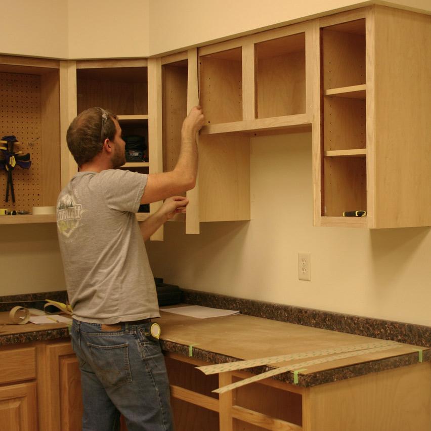 diy kitchen cabinet refacing comfort mats with peel & stick veneer   walzcraft ...