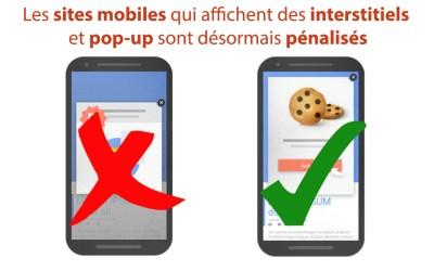Les sites mobiles qui affichent des interstitiels et pop-up sont désormais pénalisés