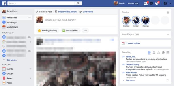 les stories Facebook arrivent sur la version PC