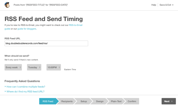 MailChimp RSS to Email