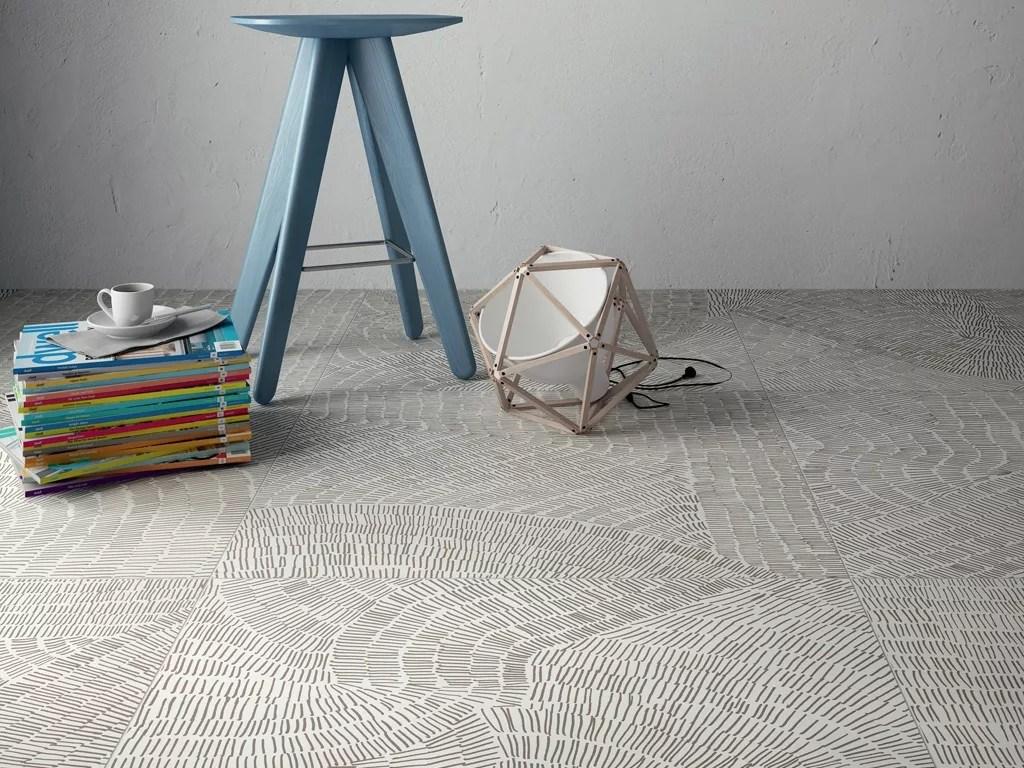 Fossil Design Porcelain Tiles ispired by prehistoric imprints