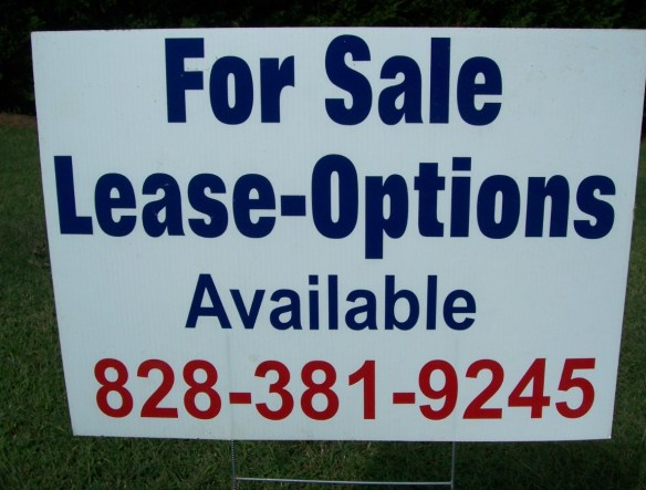 Rent To Own Sign
