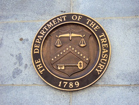 """""""Seal on United States Department of the Treasury on the Building"""" by MohitSingh - Own work. Licensed under CC BY-SA 3.0 via Wikimedia Commons - https://commons.wikimedia.org/wiki/File:Seal_on_United_States_Department_of_the_Treasury_on_the_Building.JPG#/media/File:Seal_on_United_States_Department_of_the_Treasury_on_the_Building.JPG"""
