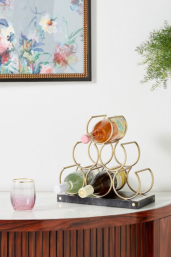 mother of pearl inlay wine rack