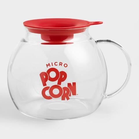 glass microwave popcorn popper