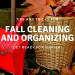 Fall Cleaning and Organizing Tips and Tricks