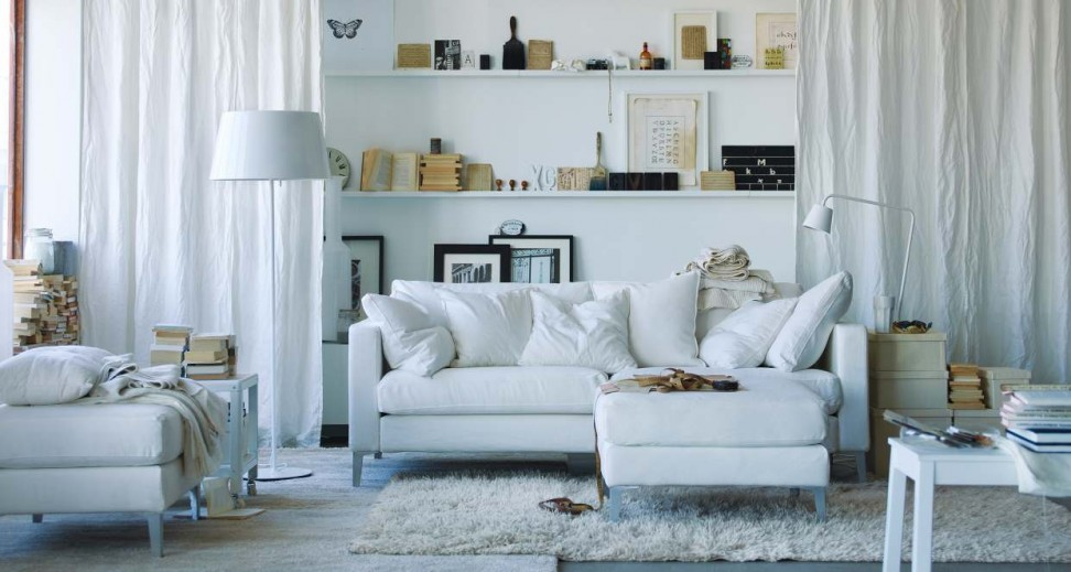 Cottage Ikea Living Room White Color Schemes Sofa Floor Lamp Rooms Appealing Design Tips
