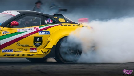 Ferrari drifting in Formula Drift