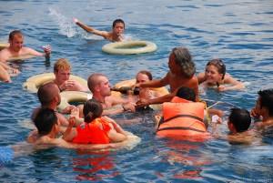 Floating bar boat trip in Nha Trang