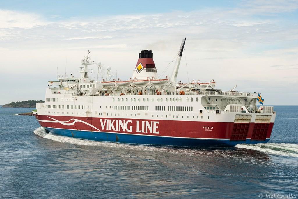 Viking Line ferry in Mariehamn, Aland Islands