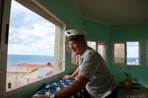 Harbor master in Havana, Cuba on December 17, 2014