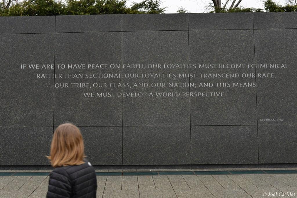 Quotes at MLK Jr Memorial in Washington DC