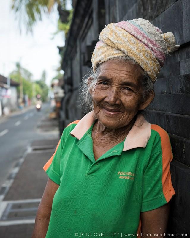 Old woman in Jimbaran, Bali