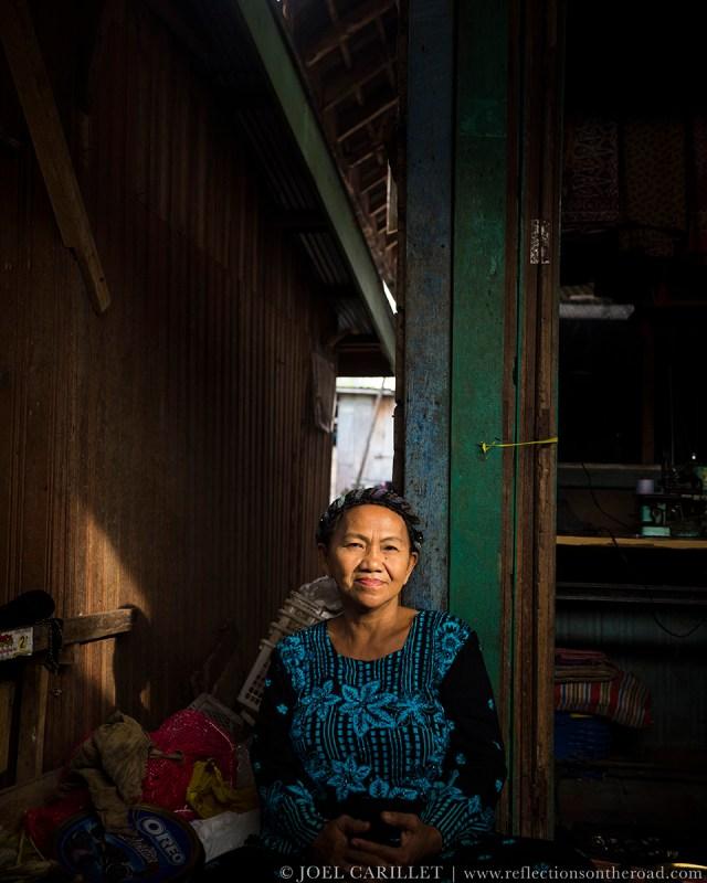 Market vendor in Kumai, Central Kalimantan, Indonesia