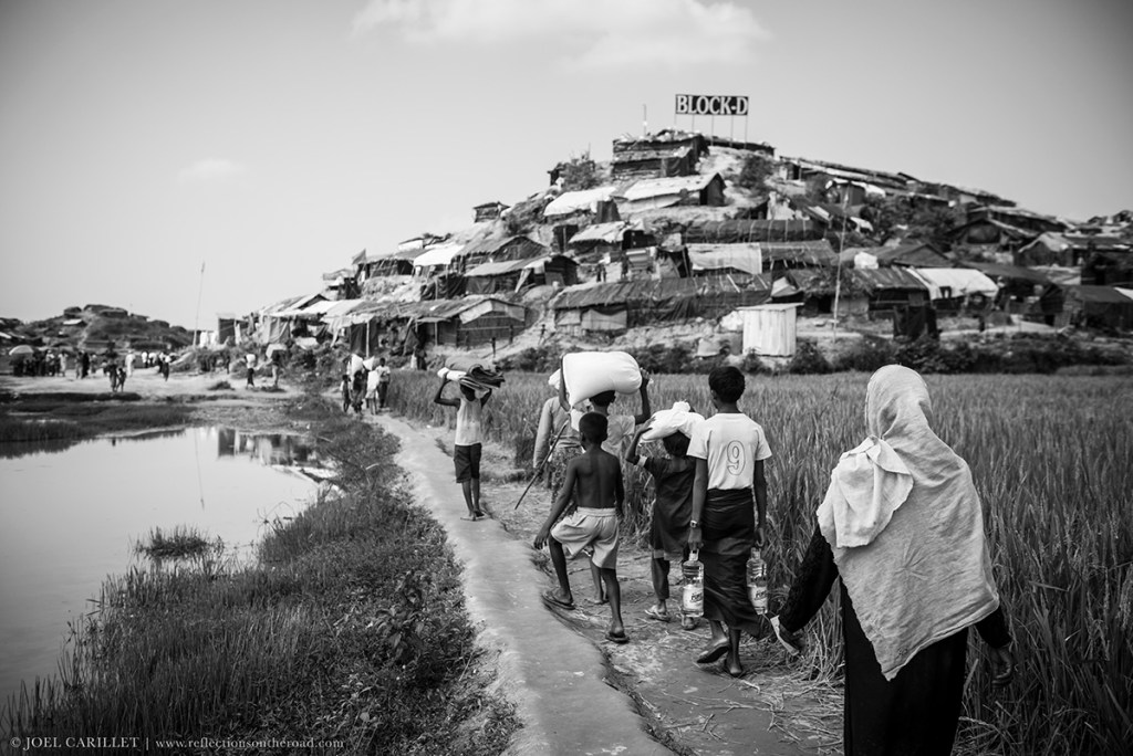 Rohingya refugees at Jamtoli refugee camp