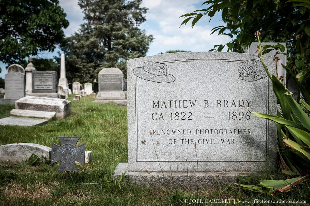 Grave of photographer Mathew Brady in Washington D.C.
