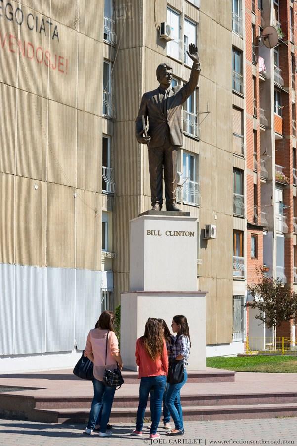 Bill Clinton statue in Pristina, Kosovo