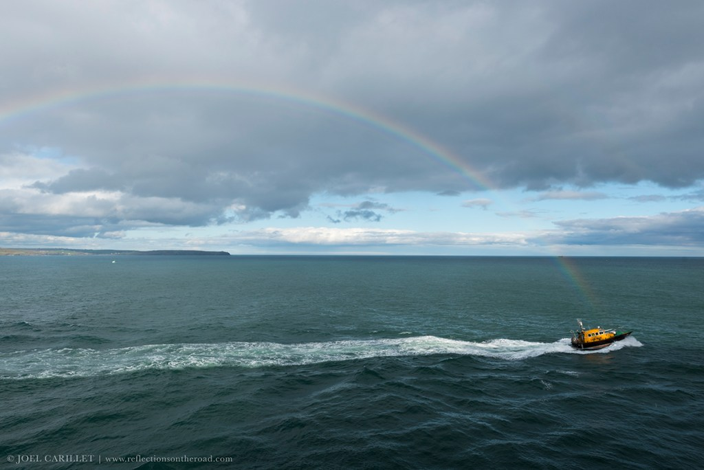 Rainbow off the coast of Cobh, Ireland