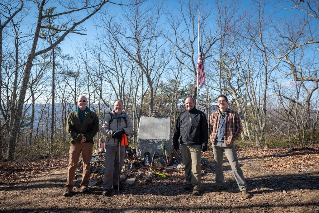 Audie Murphy monument on Appalachian Trail
