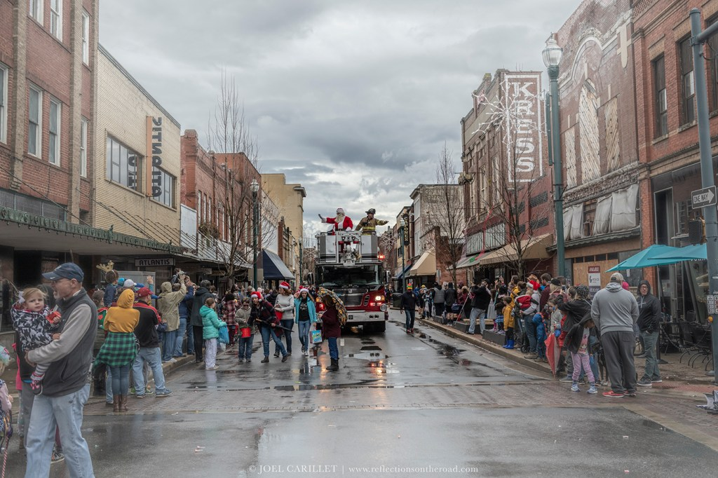 Christmas Parade in Johnson City, Tennessee