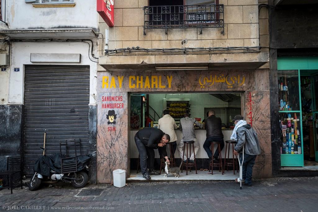 Cafe scene in Tangier, Morocco