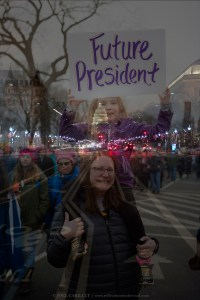 Future President at the Women's March in Washington DC
