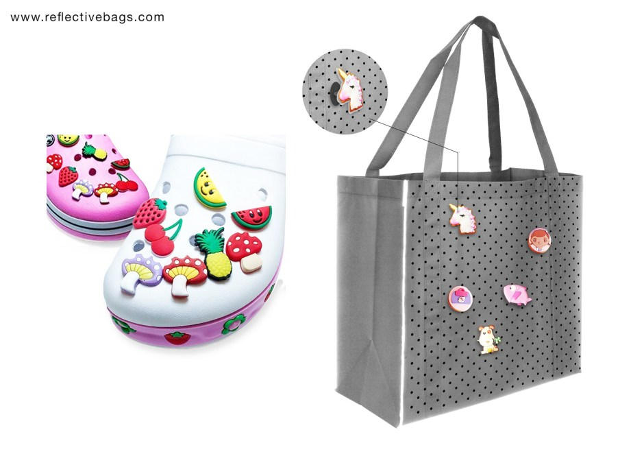 Attachable Custom Bag Accessories for Reflective Shopping Bags
