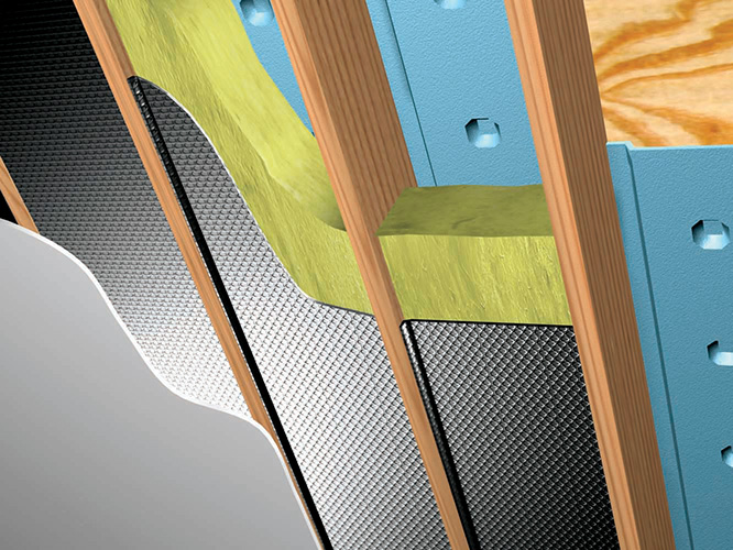 Ceiling Vapor Barrier Installation