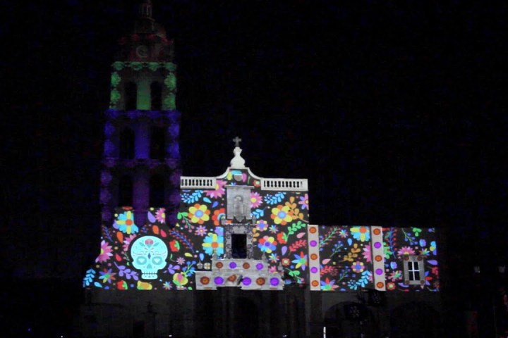video mapping dia de muertos