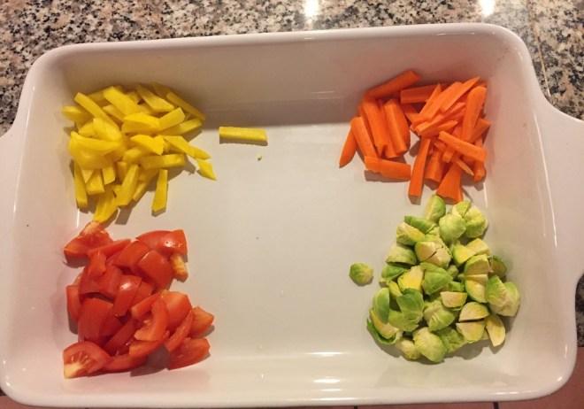 Rodfrugter, rosenkål og tomater