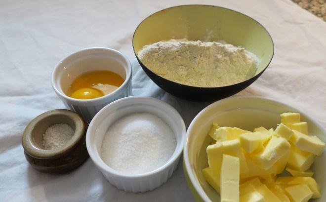 Råvarer til citrontærte