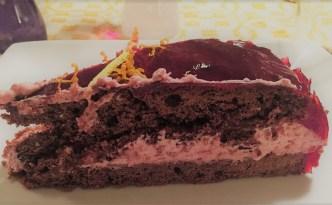 Chokoladekage med hindbær