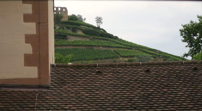 Staufen, udsigt fra hotelværelset