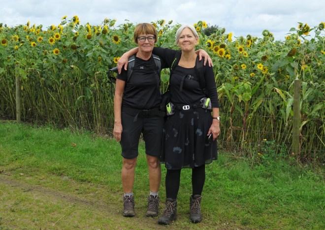 To friske vandrere på Hærvejen