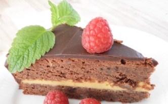 Chokoladekage med karamelcreme