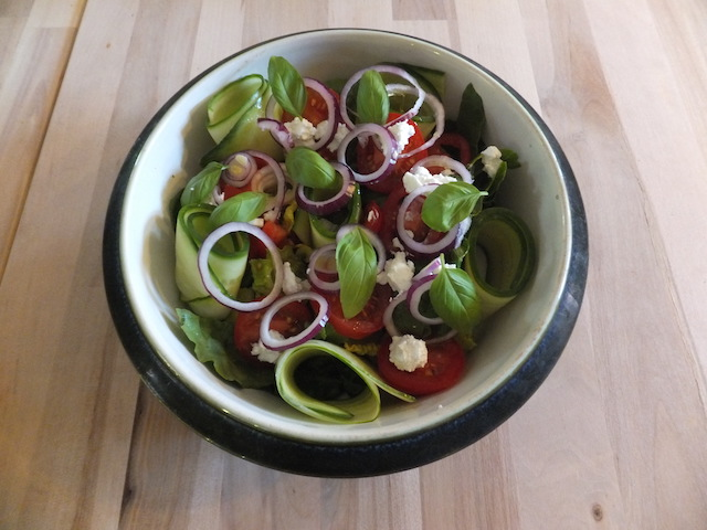 Tomatsalat med gedefriskost