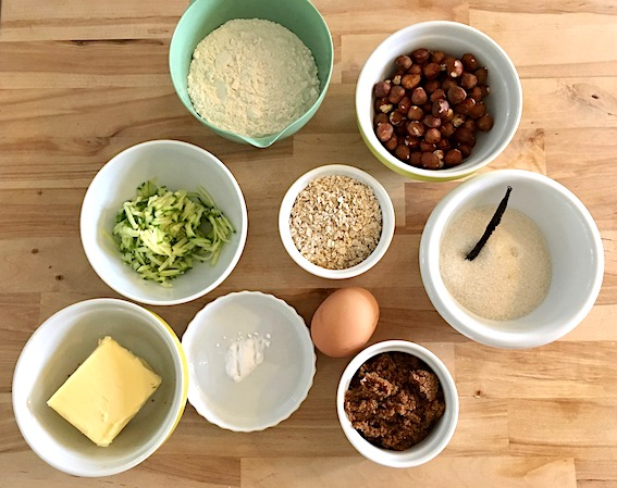 Ingredienser til amerikanske cookies med squash