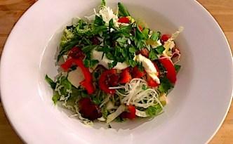 Salatbowl med mozzarella