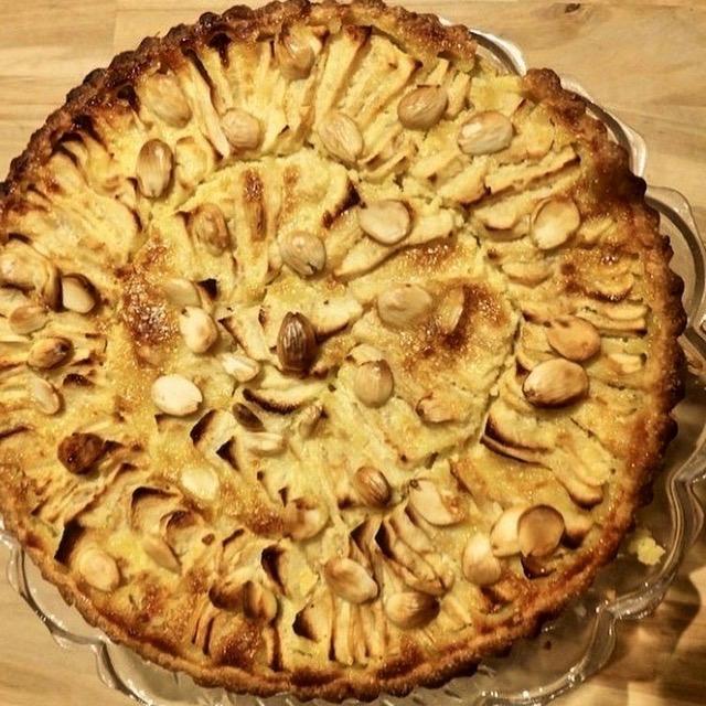 Æbletærte fra Normandiet.
